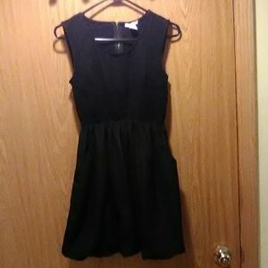 barIII Black Minidress w/ Bubble Hem &Pockets